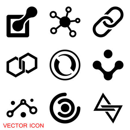 Connection icon, design element. Abstract  idea for business company. Vector