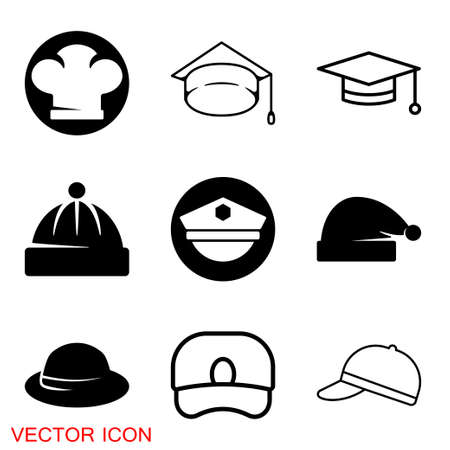 Cap icon in Flat Style. Vector sign illustration 矢量图像