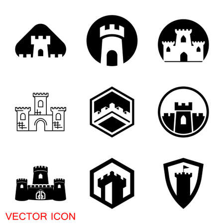 Castle icon. Castle tower icon or symbol.