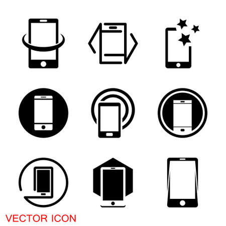 Cell phone icon, smartphone icon, vector sign