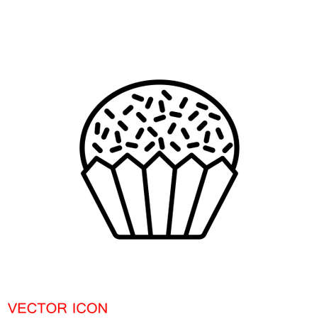 Brigadeiro icon vector. Brazilian sweet brigadier