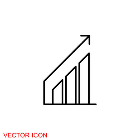 Chart icon vector growing graph icon