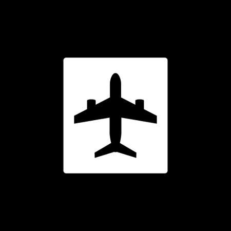 Airport icon design, vector illustration eps10 graphic 矢量图像