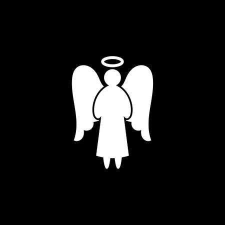 Angel icon. Christmas Angel isolated on background 矢量图像