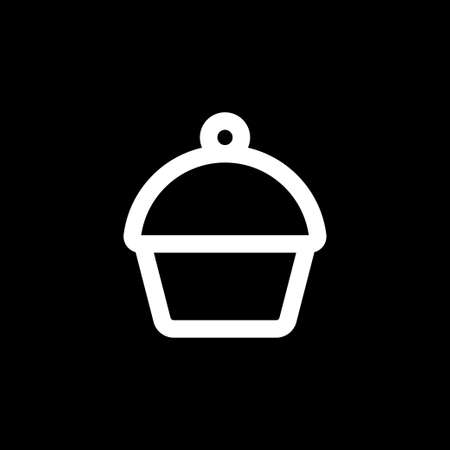 Cupcake icon. Cupcake shop logo template.