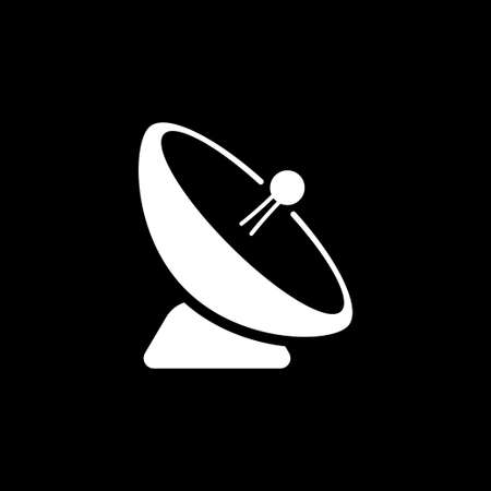 Antenna icon. Radar satellite dish - Vector