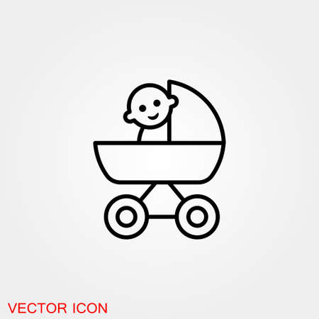 Baby changing diapers flat icon sign