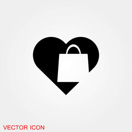 Bag icon. Shopping bag Vector illustration