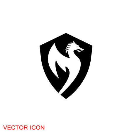 Dragon icon, Dragon logo vector design template, dragon 免版税图像 - 151359766