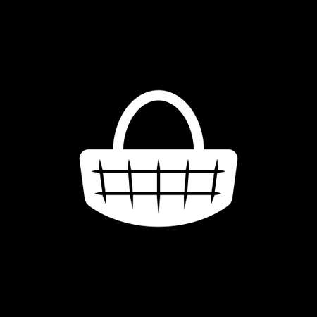 Basket icon, plate with spoon BBQ. Vector 矢量图像