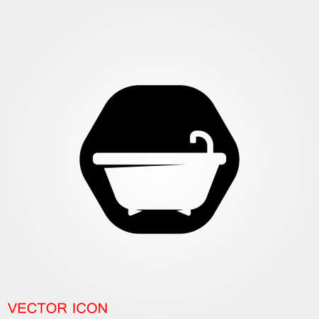 Vector bathroom icon. Premium quality graphic design.
