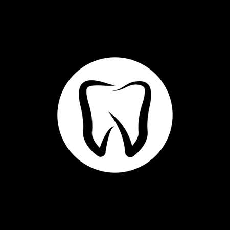 Dentist icon, Oral hygiene label vector illustration symbol