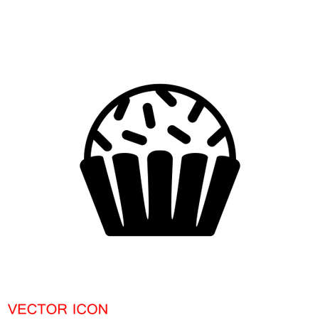 Brigadeiro icon vector. Brazilian sweet brigadier design illustration. 矢量图像