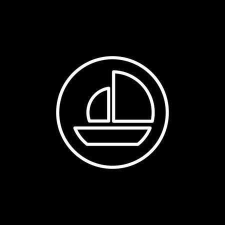 Boat icon. Ships transportation, vector sign illustration 矢量图像