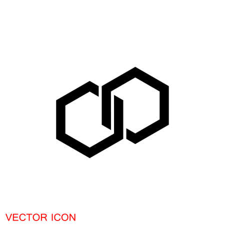 Connection icon, design element. Abstract  idea for business company.