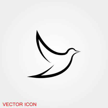 Birds icon. Birds Silhouette different vector illustrations