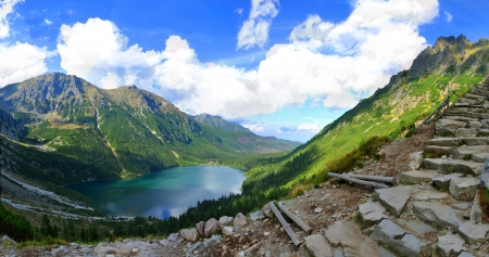 Morskie Oko is the largest and fourth deepest lake in the Tatra Mountains Stock Photo - 15147778