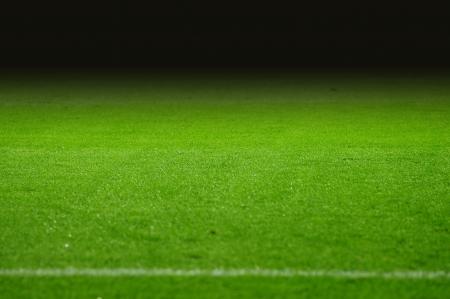 soccerfield: De voetbalveld met zwarte gradiënt Stockfoto