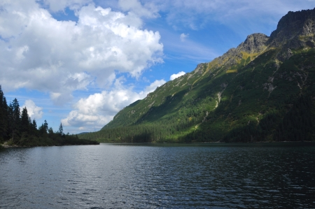 oko: Tatra Mountains Morskie Oko View in the summer Stock Photo