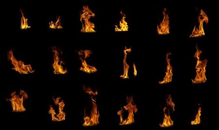 flame compilation on black background