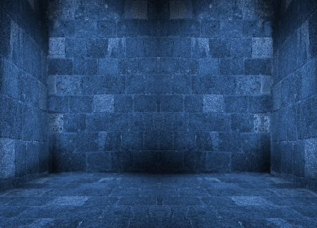 dark blue empty room with floor interior Stock Photo - 16723993
