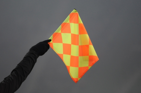 offside: referee showing a offside position