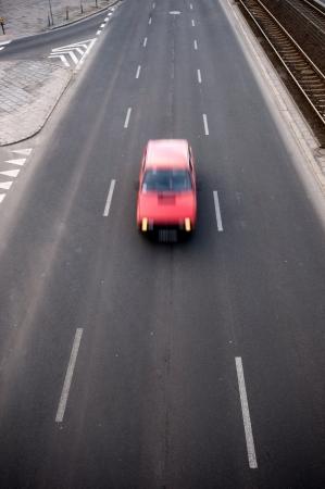 raod: raod and car motion blur