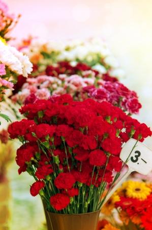 Bunch of flowers on street