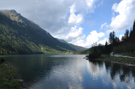 morskie: Morskie oko lake in the Tatras - polish mountains Stock Photo