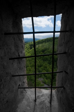 ancient prison:  prison theme with panoramic view outside