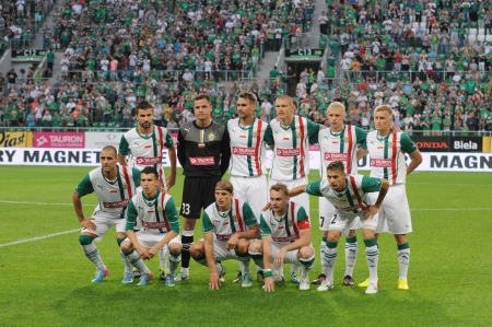 premiership: WROCLAW, POLAND - July 18 UEFA Europa League, Slask Wroclaw team, Slask Wroclaw vs Rudar Pljevlja on July 18 , 2013 in Wroclaw, Poland