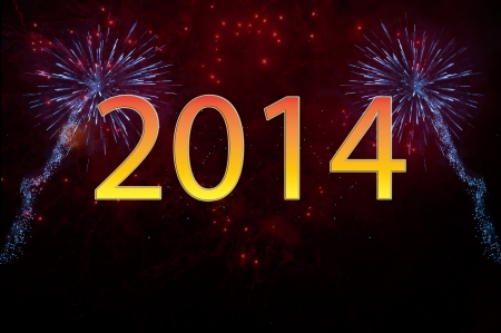 New Year 2014 fireworks Stock Photo - 23980708