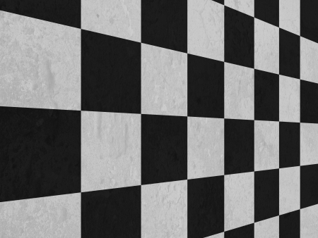 checker: large black and white checker floor background pattern   Stock Photo