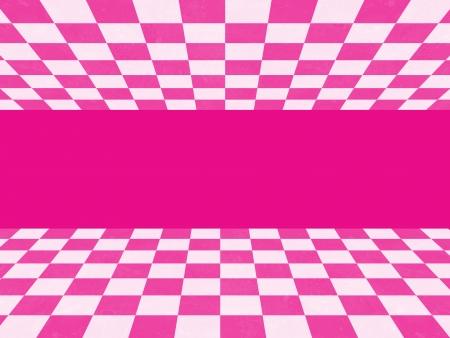 Pink checkered texture photo