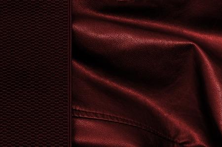 margine: sfondo nero e rosso in pelle con margine