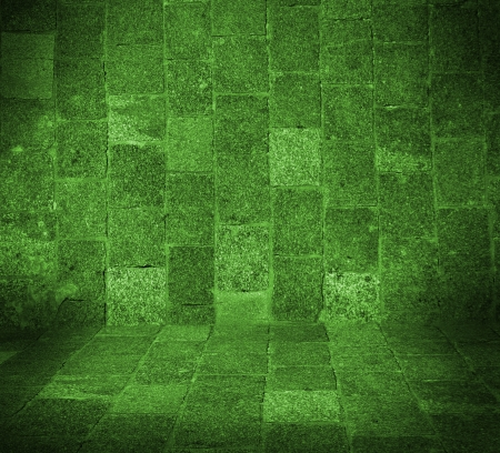 pape: dark green empty room with floor interior Stock Photo