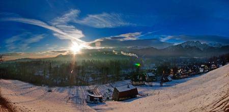 Zakopane - Winter landscape in the morning light