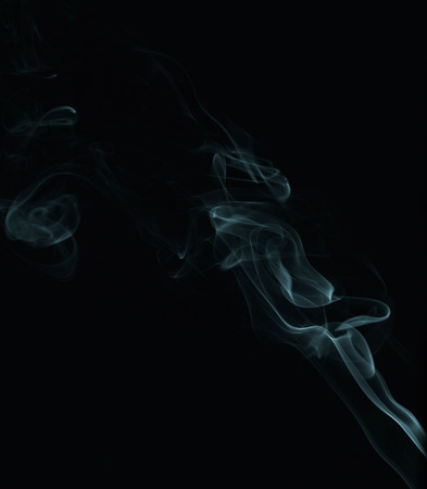 Abstract smoke isolated on black photo