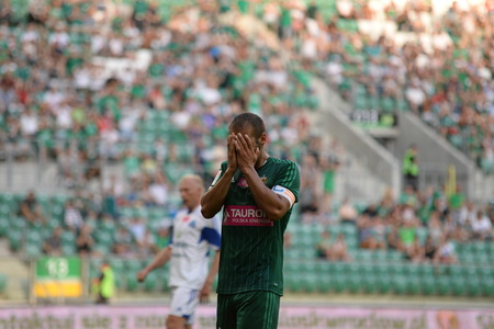 ruch: Wroclaw  POLAND - July 20  Match T-Mobile Ekstraklasa between Wks Slask Wroclaw and Ruch Chorzow  Miss by Flavio Paixao July 20, 2014 in Wroclaw  Poland