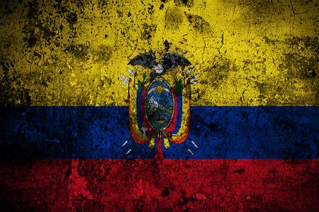 identidad cultural: grunge bandera de Ecuador con capital en Quito