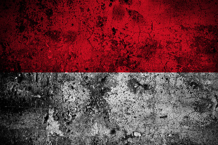 grunge flag of Indonesia with capital in Jakarta photo