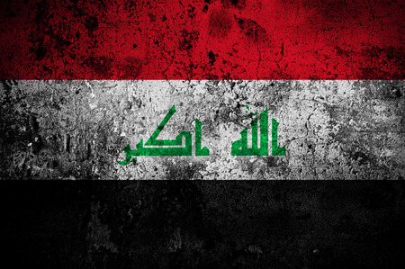 taliban: grunge flag of Iraq with capital in Baghdad