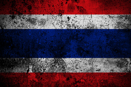 grunge flag of Thailand with capital in Bangkok photo