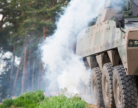 armored: Armored vehicle Stock Photo