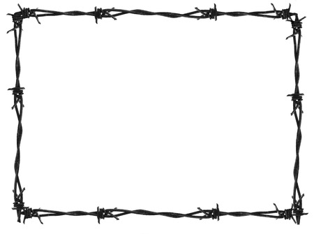 barbed wire fence: Barb frame