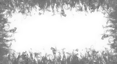 fire surround: flames  frame on white background Stock Photo