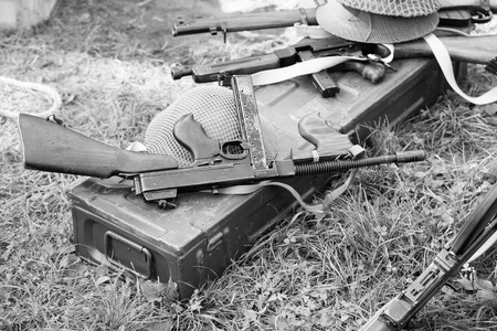 Thompson submachine gun Stock Photo