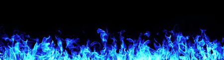 blue flame: Blue Fire flames on white background