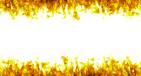 barbecue fire: fire flames on white background