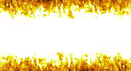 flames: llamas de fuego sobre fondo blanco Foto de archivo